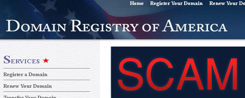 Domain Registry of America scam