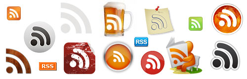 Various RSS Feed Icons