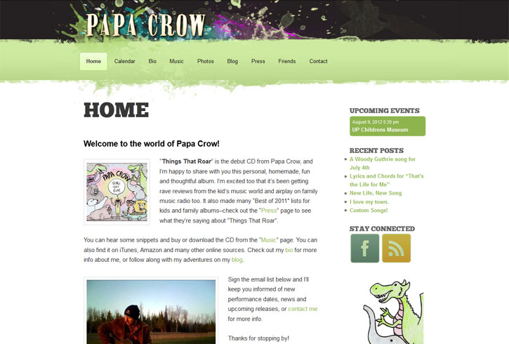 Papa Crow Website Redesign