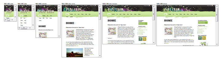 Papa Crow Responsive Web Design