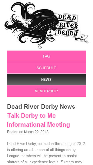 Dead River Derby on Smart Phone