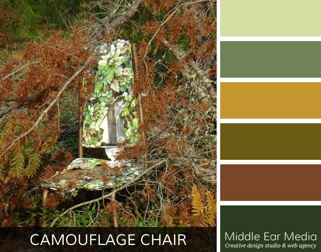 Camouflage Chair Color Palette