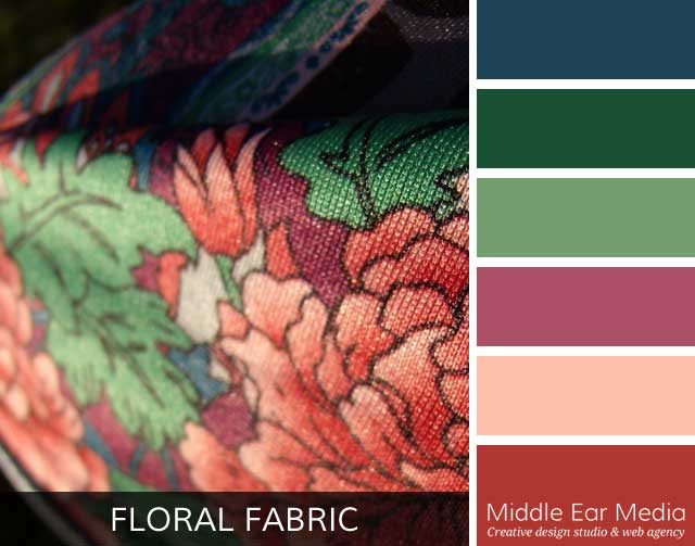 Floral Fabric Color Palette