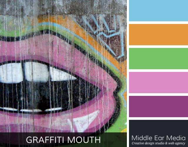 Graffiti Mouth Color Palette