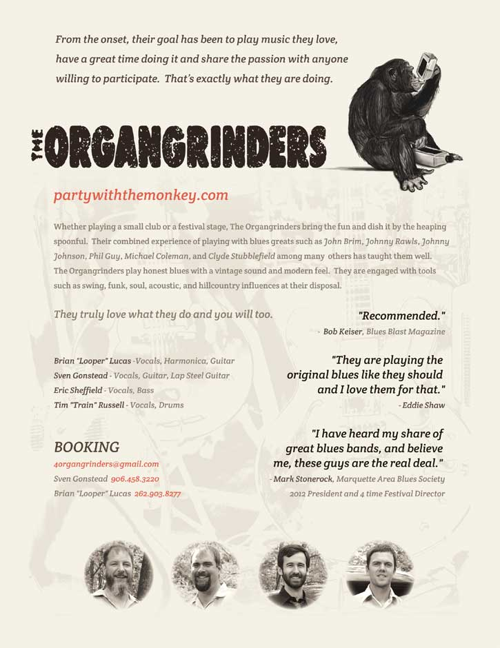 One-sheet Design for the Organgrinders