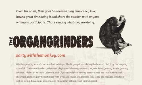 The Organgrinders One-sheet Design
