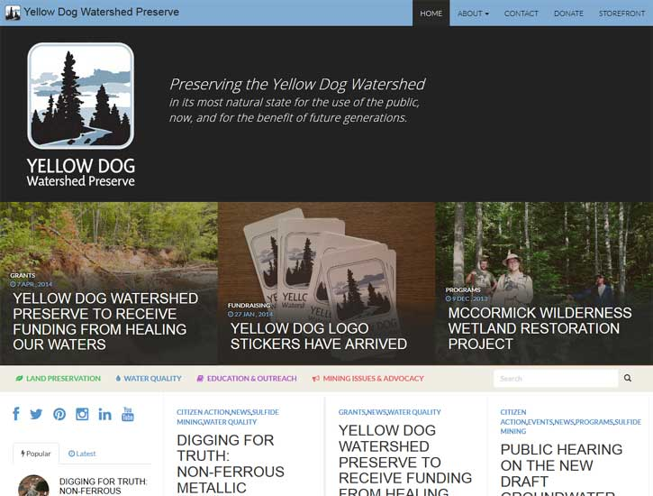 New Website for Yellow Dog Watershed Preserve