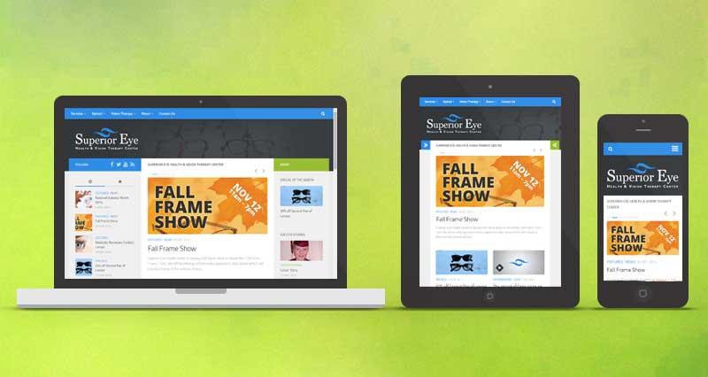 Responsive Web Site Mockup Superior Eye