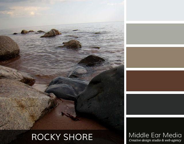 Rocky Shore Color Palette