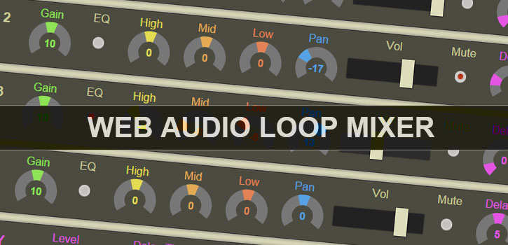 Mixing Loops with Web Audio API